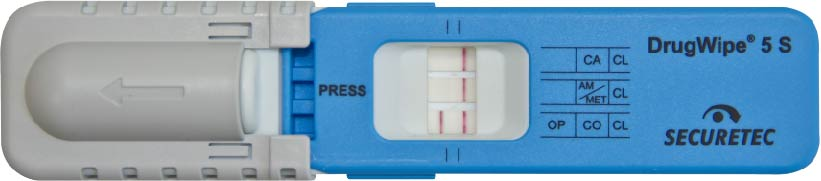 Codein Drogentest DrugWipe Opium positiv